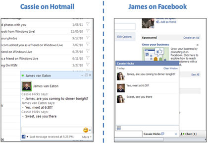 Facebook Chat in Hotmail